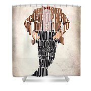 Eleventh Doctor - Doctor Who Shower Curtain by Ayse Deniz