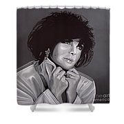Elizabeth Taylor Shower Curtain by Paul Meijering