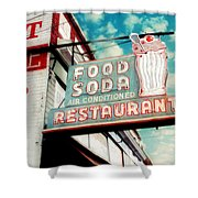 Elliston Place Soda Shop Shower Curtain by Amy Tyler