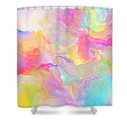 Eloquence - Abstract Art Shower Curtain by Jaison Cianelli
