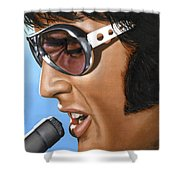 Elvis 24 1970 Shower Curtain by Rob De Vries