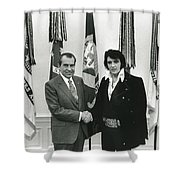 Elvis And Nixon Shower Curtain by Unknown