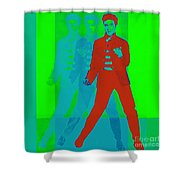 Elvis Jail House Rock 20130215p68 Shower Curtain by Wingsdomain Art and Photography