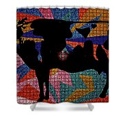 Elvis My Cow Shower Curtain by Robert Margetts
