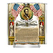 Emancipation Proclamation Tribute 1888 Shower Curtain by Daniel Hagerman