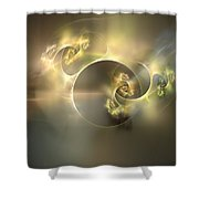 Emani Equals Peace Shower Curtain by Peter R Nicholls