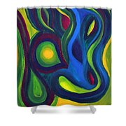 Emerald Dreams Shower Curtain by Daina White