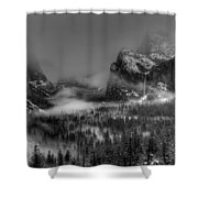 Enchanted Valley In Black And White Shower Curtain by Bill Gallagher