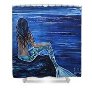 Enchanting Mermaid Shower Curtain by Leslie Allen