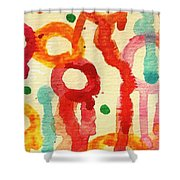 Encounters 3 Shower Curtain by Amy Vangsgard
