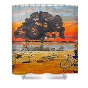 End Of Season Habits Listen With Music Of The Description Box Shower Curtain by Lazaro Hurtado
