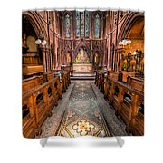 English Church 2 Shower Curtain by Adrian Evans