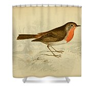 English Robin Shower Curtain by Philip Ralley