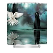 Enigma Shower Curtain by Susi Galloway