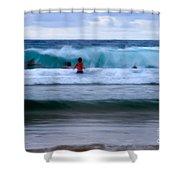 Enjoy The Ocean 2 Shower Curtain by Hannes Cmarits