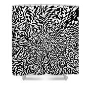 Entangle Shower Curtain by Crystal Hubbard
