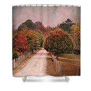 Enter Fall Shower Curtain by Jai Johnson