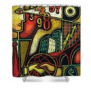 Enterprise Shower Curtain by Leon Zernitsky