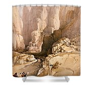 Entrance To Petra Shower Curtain by David Roberts