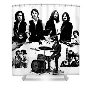 Epic The Beatles Shower Curtain by Iconic Images Art Gallery David Pucciarelli