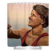 Epke Zonderland The Flying Dutchman Shower Curtain by Paul Meijering
