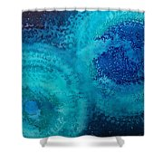 Equivalent Space Original Painting Shower Curtain by Sol Luckman