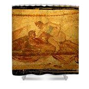Erotic Art Of Pompeii Shower Curtain by John Malone Halifax Photographer