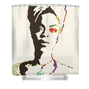 Erykah Badu Shower Curtain by Stormm Bradshaw