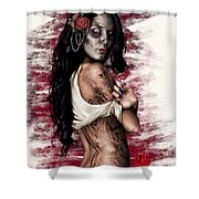 Esperanza Viva Shower Curtain by Pete Tapang