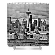 Espresso City Shower Curtain by Benjamin Yeager