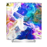 Essence - Abstract Art Shower Curtain by Jaison Cianelli