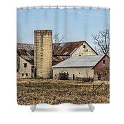 Ethridge Tennessee Amish Barn Shower Curtain by Kathy Clark