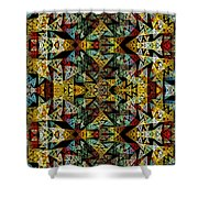 Etno Style Pattern Shower Curtain by Klara Acel