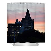 Evening In New York Shower Curtain by Sonali Gangane