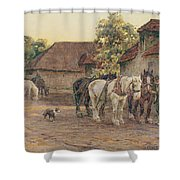 Evening Shower Curtain by Joseph Harold Swanwick