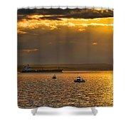 Evening Mariners Puget Sound Washington Shower Curtain by Jennie Marie Schell