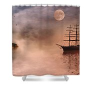 Evening Mists Shower Curtain by John Edwards