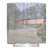 Everett Covered Bridge Shower Curtain by Jack R Perry