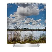 Everglades Lake 6853 Shower Curtain by Rudy Umans