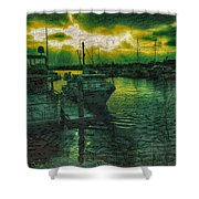 Every Port Shower Curtain by Cheryl Young