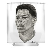 Ewing Shower Curtain by Tamir Barkan