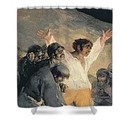 Execution Of The Defenders Of Madrid Shower Curtain by Francisco Jose de Goya y Lucientes