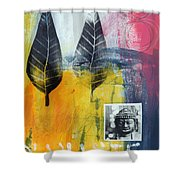Exhale Shower Curtain by Linda Woods