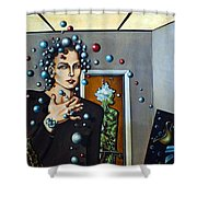 Existential Thought Shower Curtain by Valerie Vescovi