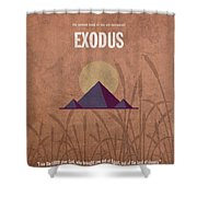 Exodus Books Of The Bible Series Old Testament Minimal Poster Art Number 2 Shower Curtain by Design Turnpike