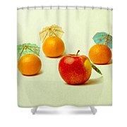 Exotic Fruit - Square Shower Curtain by Alexander Senin