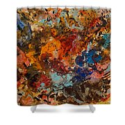 Explosive Chaos Shower Curtain by Natalie Holland