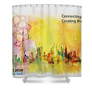 Expo Poster 1 Shower Curtain by Corporate Art Task Force