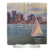 Eye On The Sky Shower Curtain by Dianne Panarelli Miller