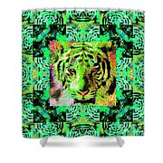 Eyes of The Bengal Tiger Abstract Window 20130205m180 Shower Curtain by Wingsdomain Art and Photography